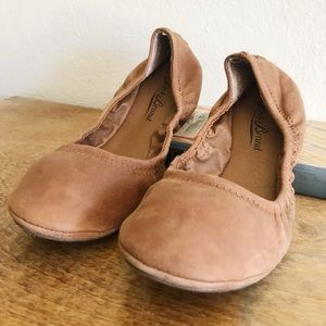 Lucky Brand 'Emmie' Flat in Bourbon